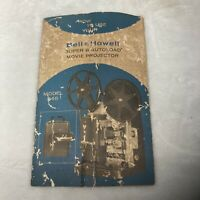 """Vintage Bell & Howell AutoLoad Super 8 Movie Projector Model 346 """"Manual"""" Only!"""