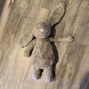 "Jellycat plush Bunny Rabbit Bashful Woodland Babe gray brown Easter 11"""
