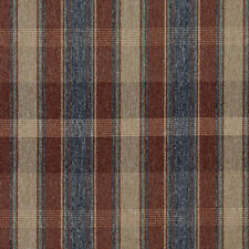 C644 Rustic Red Blue Green Beige Plaid Country Upholstery Fabric By The Yard