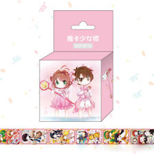 Anime Card Captor Sakura Kinomoto DIY Paper Maksing Washi Tape Scrapbook Sticker