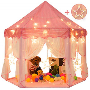 Sunnyglade 55'' x 53'' Princess Tent with 8.2 Feet Big and Large Star Lights for