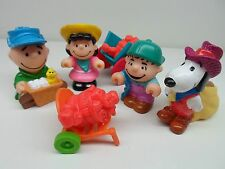 McDonalds Happy Meal Peanuts Gang Toys Charlie Brown Lucy Snoopy Linus lot 1989
