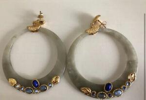 Gas Bijoux Resin Cabochon Earrings NWT