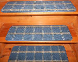 14 = Step 9'' x 29''  + 1 Landing 29'' x 34'' Tufted carpet Wool Stair Treads.