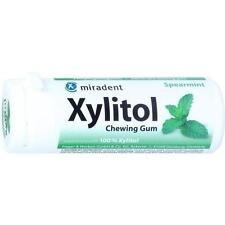 MIRADENT Zahnpflegekaugummi Xylitol Spearmint 30 St