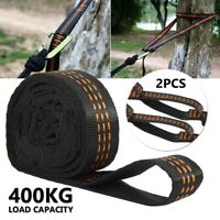 400KG 2X Adjustable Tree Hanging Extension Hammock Straps Heavy Duty Suspension