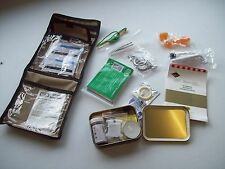 NEW - Genuine MoD Issued Emergency Survival Kit complete with Tin and Belt Pouch
