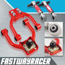 Civic EK Red Front Upper Control Camber Arm Kit Arms + Version 2 Rear Camber Kit