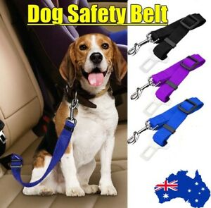 Pet Dog Car Vehicle Safety Seat 3 Colors Belt Restraint Harness Leash Travel AUS