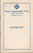 Original 1926 Royal Automobile Club London, Germany Guide Book