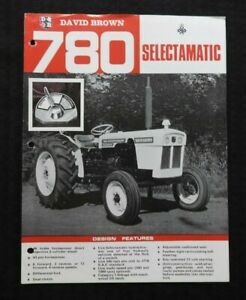 "GENUINE 1967 DAVID BROWN 780 ""SELECTAMATIC TRACTOR"" BROCHURE VERY GOOD SHAPE"