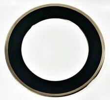 """Haviland Limoges Laque De Chine Platinum Rim - Noir Salad/Dessert Plate, 8 5/8""""D"""