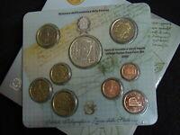 ITALIA 2005 SET COMPLETO ORIGINALE UFFICIALE FDC 8 MONETE + € 5 EURO AG FELLINI