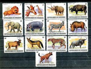 Burundi 1983  Wild Animals set of 13  REPLICA