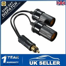 12v HELLA Plug to Twin Cigar Socket Adapter Converter Car Cigarette Lighter UK