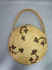 """Native American Weave Purse Basket. Very Nice Design. Approx 13.5"""" T x 10"""" W"""