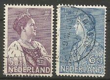 NEDERLAND; NVPH  255/256 Gebruikt/o/USED