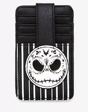 Loungefly Nightmare Before Christmas Jack ID WIndow Slim Cardholder Wallet Black
