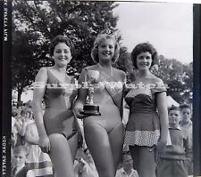 B/W 6x6 x2 Negative Worthing West Sussex Carnival Queen 1950s