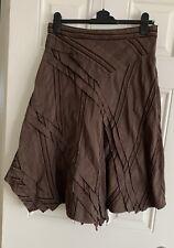 Ladies PRINCIPLES Brown Knee Length Skirt With Jagged Hem/Layered Look - Size 12