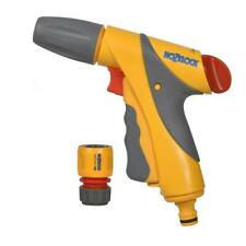 Hozelock Jet Spray Gun Nozzle Plus with Hose Pipe Connector - Multi-Pattern