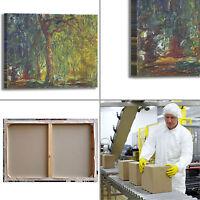 Monet salice piangente design quadro stampa tela dipinto telaio arredo casa