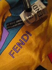 New in Box. FENDI Scarf Women Silk  square GENUINE bought in Italy