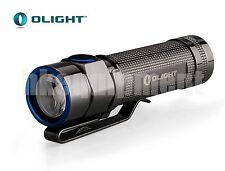 OLIGHT S1A Baton Stainess Steel Cree XM-L2 CW 14500 AA Flashlight Thunder Grey