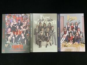 signed TWICE autographed 2nd album EYES WIDE OPEN +signed poster K-POP 1