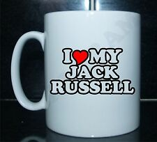 I love/heart my jack russell nouveauté imprimé tasse cadeau chien chiot