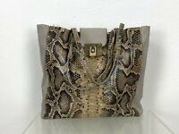 Lanvin Runway Auth Large Brown Taupe Leather Tote Hand Shoulder Bag Purse Travel