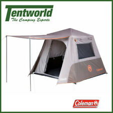 Coleman 4 Person Instant Up Full Fly Camping Tent Silver Series