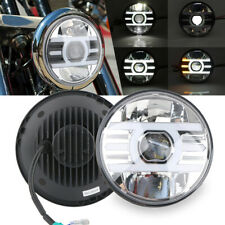 """7"""" LED Headlight High/Low Beam DRL Projector For Harley Motorcycle Jeep Wrangler"""
