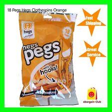 New 18  Hegs Pegs Orange Made in Australia Clothes Line Pegs Bulk Buy eBC