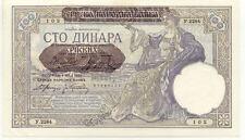 Billet banque SERBIE SERBIA YOUGOSLAVIE YUGOSLAVIA 100 DINARA 1941 UNC NEUF 102