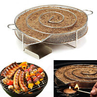 Stainless Steel Chips Grill Basket Smoker Picnic BBQ Cold Smoking Generator Tray