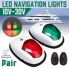 Pair LED Boat Navigation Light Signal Lamp For Port Starboard Marine Yacht New