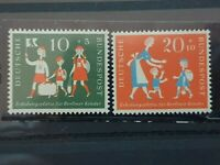 Germany - 1957 - Berlin Children's Holiday Fund. - 2 stamp set  - MNH