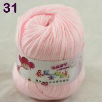 Sale 1ballx50g Soft Baby Cashmere Silk Wool Hand Knit Children Sweaters Yarn 31