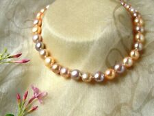 Freshwater Pearl Necklace - Natural Colours with Silver Clasp - Pansy