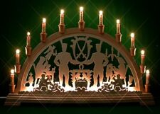 Original Schwibbogen Wildfütterung 7 Kerzen 51 x 32 cm HS01017K