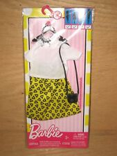 2016 Mattel Barbie Fashion Outfit White Top / Yellow Skirt / Bag & Necklace NEW