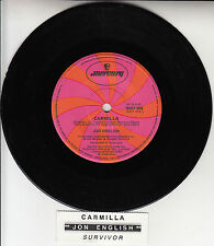 "JON ENGLISH  Carmilla 7"" 45 rpm vinyl record + juke box title strip"
