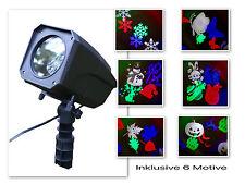LED Weihnachten Bunter Strahler Projektor Beleuchtung Lichteffekt Garten RC
