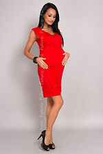 Women's Maternity Mini Bubble Dress V Neck Pregnancy Tunic Sizes 8-18 8437