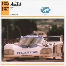 1986-1987 MAZDA 757 Racing Classic Car Photo/Info Maxi Card