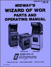 Wizard of Wor Game Operations/Service/Repair Manual/Arcade Coin Video Machine Zb
