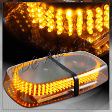 240 LED Roof Top Emergency Hazard Warning Flash Strobe Light Bar Lamp - Amber