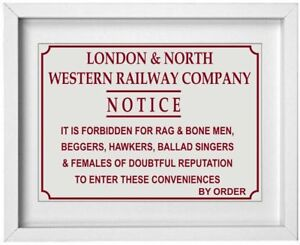 British Railway Station Sign Picture | Toilet Bathroom Picture | 10 x 8 |  NP238