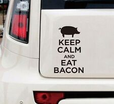 Keep Clam and Eat Bacon Funny Car Decal Sticker i love bacon keep calm and eat